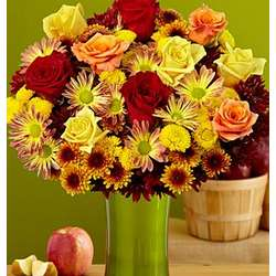 Deluxe Fall Sunshine and Smiles Bouquet