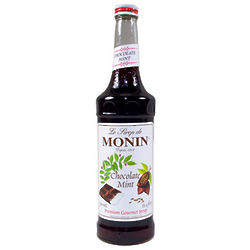 Monin Chocolate Mint Syrup Bottles