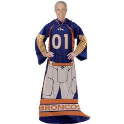 Denver Broncos Blanket with Sleeves