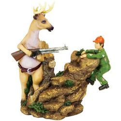 Over the Cliff Hunter Figurine
