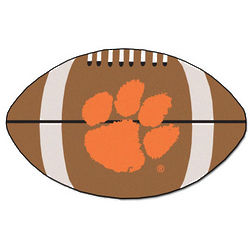 Clemson Tigers Football Shaped Rug