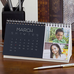 Picture Perfect 24-Photo 12-Month Desk Calendar