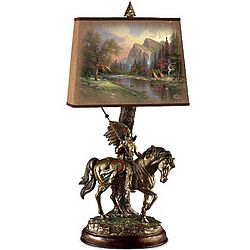 Native Journeys Sculpture Lamp with Art Shade