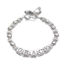 Classic Silver Adult's Name Bracelet