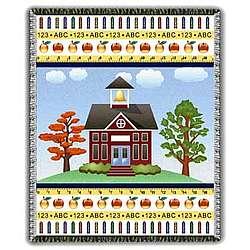 Golden School Days Tapestry Throw