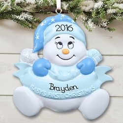 Personalized Baby's First Christmas Ornament for Baby Boy