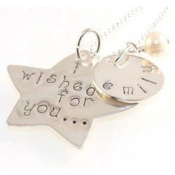 I Wished for You Hand Stamped Necklace