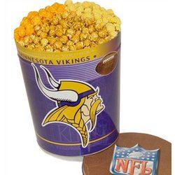 Minnesota Vikings 3 Way Popcorn Tin