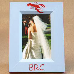 Hand Painted Lobster Picture Frame