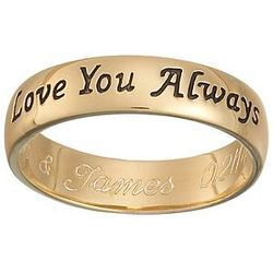 18k Gold Plated Love You Always Message Band