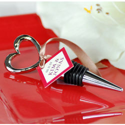 Open Heart Wine Bottle Stopper