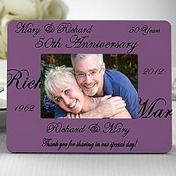 Anniversary Wishes Picture Frame Favors