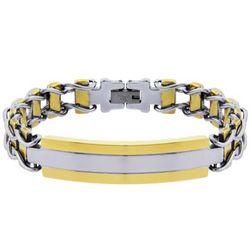 Men's Engravable Urban Style Ladder Link ID Bracelet
