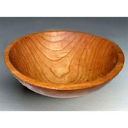 Round Cherry Wood Bowl