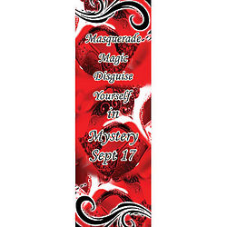 Mardi Gras Sequin Mask Personalized Banner