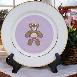 It's a Girl Birth Announcement Plate
