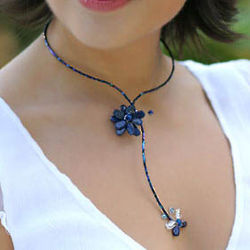 Lapis Lazuli Song of Summer Flower Necklace