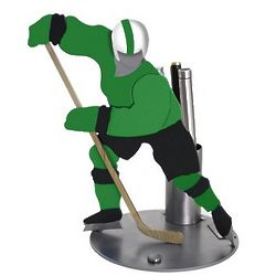 Hockey Player Pen Holder and Desk Sculpture