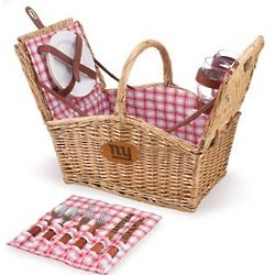 New York Giants Piccadilly Willow Picnic Basket