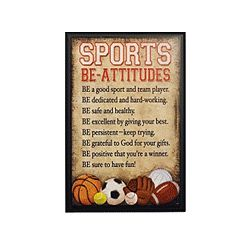 Sports Be Attitudes Plaque