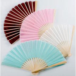 Personalized Silk Fan Wedding Favors