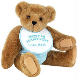 Happy First Mother's Day Blue Teddy Bear