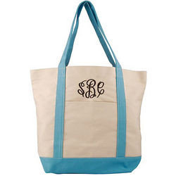 Personalized Canvas Large Boat Tote