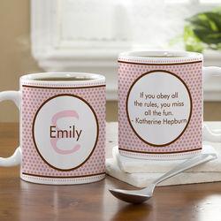 Polka Dot Personalized Coffee Mug