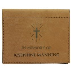 Personalized Leather Memorial Photo Album