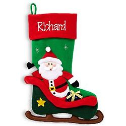 Personalized Christmas Sleigh Santa Stocking