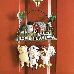 Welcome to the Funny Farm Plaque