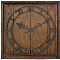 Traditional Wall Clock in Honey Pecan Finish