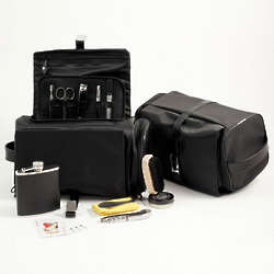 Travel Tote with Flask, Cards and Manicure Set