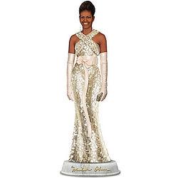Michelle Obama Campaign Elegance Mosaic Dress Sculpture