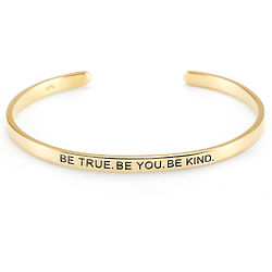 Be True - Be You - Be Kind Gold Plated Message Bracelet