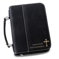 Small Personalized Bible Case in Black