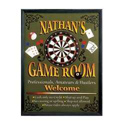 Personalized Game Room Canvas Print