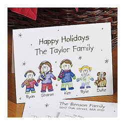 Winter Family Note Cards and Envelopes