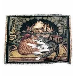 Hearth Kitties Throw
