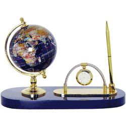 Gemstone Globe World Pen and Pen Stand