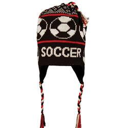 Fleece Lined Soccer Knit Hat