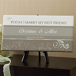 Personalized Wedding Date Canvas Print