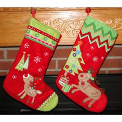 Baby Reindeer Personalized Christmas Stockings