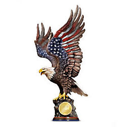 We Will Never Forget Patriotic Eagle Sculpture