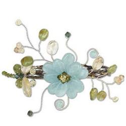 Green Dragonfly Shadow Peridot Wrap Bracelet