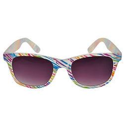 Rainbow Zebra Wayfarer Sunglasses