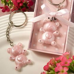 Teddy Bear Key Chain Baby Shower Favor