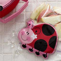 Girl's Ladybug Lunch Box Ice Pack