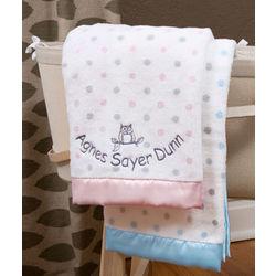 Personalized Sterling Dots Stroller Blanket