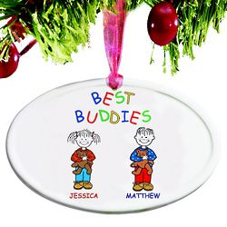 Personalized Best Buddies Christmas Ornament
